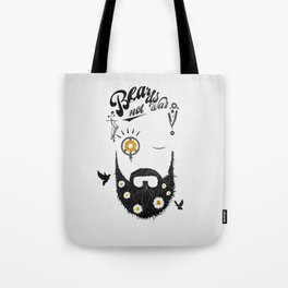 Make Beards not War (typo edition) Tote Bag