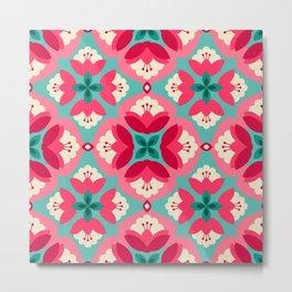 Beautiful ceramic ornaments pattern Metal Print