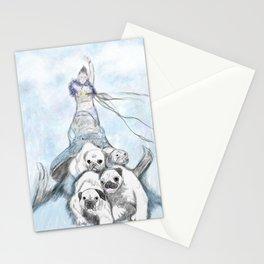 Glitter Warrior Stationery Cards