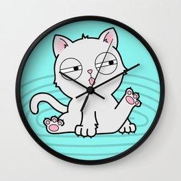 Kitty Bath Time Wall Clock