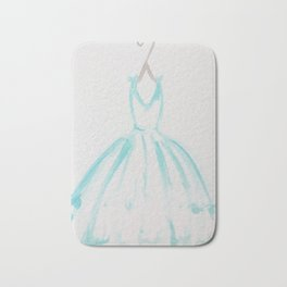 The Turquoise Dress Bath Mat