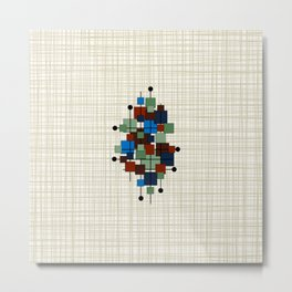 Mid Century Modern Squares 2a Metal Print