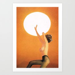 Girl In The Sun... (One Thing...) Art Print