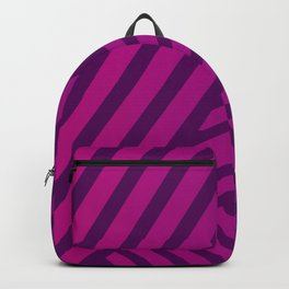 Pink and Purple Lines Geometric Abstract Design Backpack