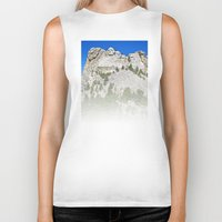 rushmore Biker Tanks featuring Mount Rushmore by astultz23