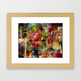 525,600 Minutes Collage Framed Art Print