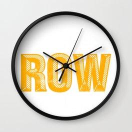 Rowing Eat Sleep Row Repeat Rower Wall Clock