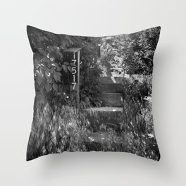 Stairs B/W Throw Pillow