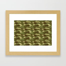Camo pattern Framed Art Print