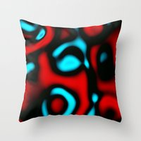 pain Throw Pillows featuring Pain by Christy Leigh