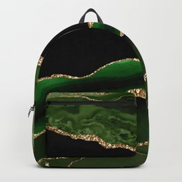 Emerald Marble Glamour Landscapes Backpack