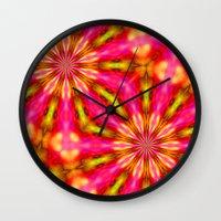 woodstock Wall Clocks featuring Woodstock by Brian Raggatt