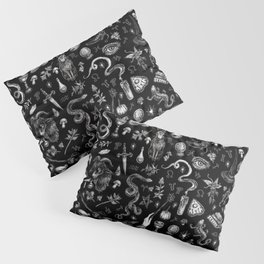 Salem Witch in Black Pillow Sham