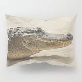 Alligator Photography   Reptile   Wildlife Art Pillow Sham
