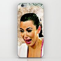 kardashian iPhone & iPod Skins featuring Funny Cute Ugly Crying face iPhone 4 4s 5 5c 6, pillow case, mugs and tshirt by Greenlight8
