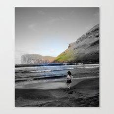 Girl & ocean Canvas Print