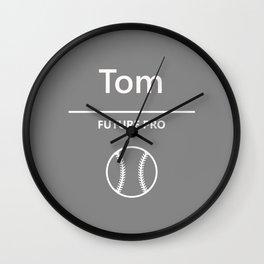 Tom - Baseball - Future Pro Wall Clock