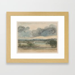 John Constable 1776–1837   View over a Valley, Probably Epsom Downs Framed Art Print