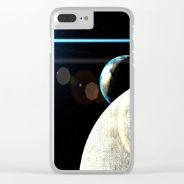Moon Earth Clear iPhone Case