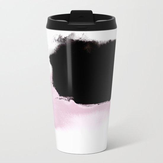 Pink to Black Metal Travel Mug