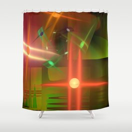 Abstract lighteffects -17- Shower Curtain