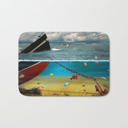View into the underwater world Bath Mat