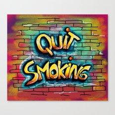 QUIT SMOKING 1 Canvas Print