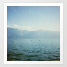 Lake memories Art Print