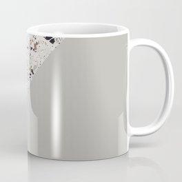Minimal Terrazzo Moon on warm grey #minimalart Coffee Mug