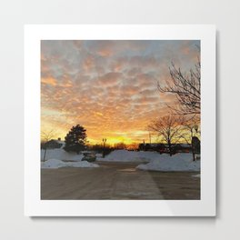 Winter Sunset, Chicago, 2018 Metal Print