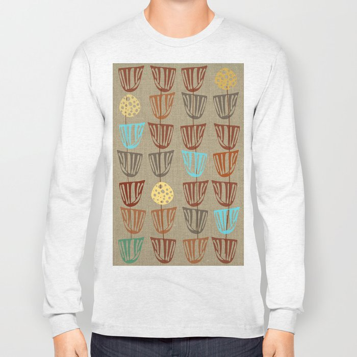 Pods and Seeds 2 on Linen Long Sleeve T-shirt