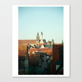 Cozy Rooftops Canvas Print