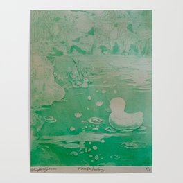 MoonSea Fantasy lightgreen Poster