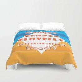 Coogee - Bronte - Clovelly - Tamarama - Bondi Duvet Cover