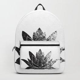 Boho - black and white lotus Backpack