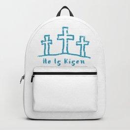 He Is Risen Easter Calvary Backpack