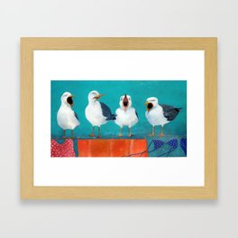 Gaviotas Framed Art Print