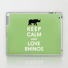 Keep Calm and Love Rhinos Laptop & iPad Skin
