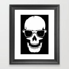 Skull in shades Framed Art Print
