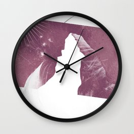 Matterhorn feather Wall Clock