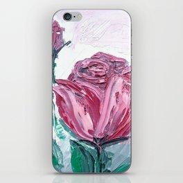 Crimson Rose Garden Watercolor Art Print iPhone Skin