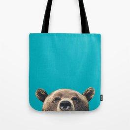 Bear - Blue Tote Bag