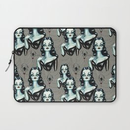 Vampire Vixen with Black Widow Spider Laptop Sleeve