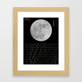 2017 Calendar - Lunar Framed Art Print