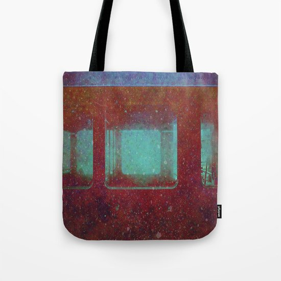 Into the City, Structure Windows Grunge Tote Bag
