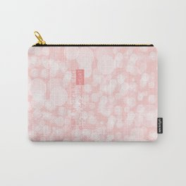 Beauty is not in the face; beauty is a light in the heart. Carry-All Pouch