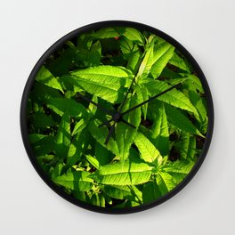 Plants a Plenty Wall Clock