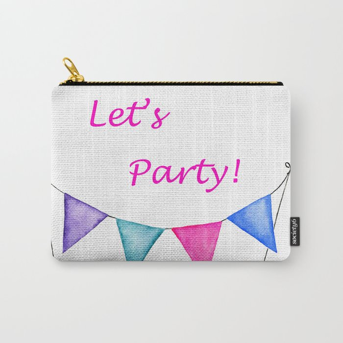 Let's Party - Purple Haze Banner Carry-All Pouch