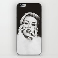 miley iPhone & iPod Skins featuring Miley by Michaela Ramstedt