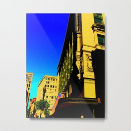 Dowtown Crossing Metal Print
